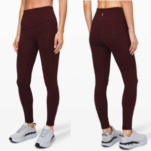 "Lululemon All The Right Places Pant II 28"" Garnet"